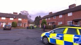 Police at Manor Road, Arleston, Telford