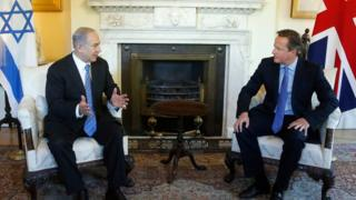 David Cameron and Benjamin Netanyahu
