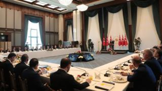 Belediye başkanları ile toplantı