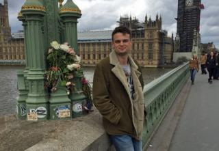 Will on Westminster Bridge a year after the terror attack
