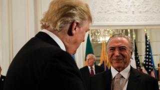 Donald Trump e Michel Temer