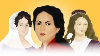 Javiera Carrera, Juana Azurduy y María Ignacia Rodríguez de Velasco
