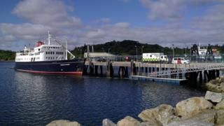 A ferry in Stornoway