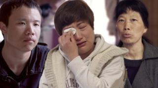 Tres trabajadores extranjeros en Japón que dicen haber sido explotados.