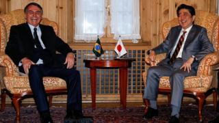 Bolsonaro e Shinzo Abe