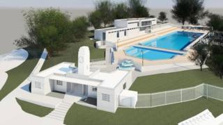 An artist's impression of how Broomhill lido will look