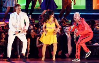 Ricky Martin, Camila Cabello and J Balvin