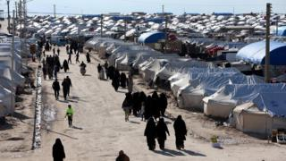 Al-Hol displaced people camp in Syria (1 April 2019)