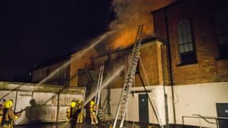 Fire in Horsham