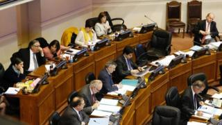 Chilean senators are seen during a session on a draft law which seeks to ease the country's strict abortion ban, in Valparaiso, Chile July 18, 2017