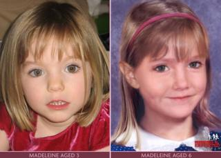 in_pictures A poster released by the Find Madeleine Campaign which shows Madeleine McCann as she was aged three, and how she might look now, aged six