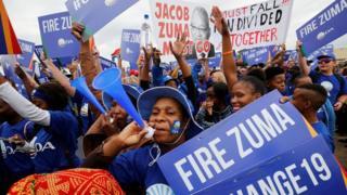Abari mu myiyerekano bari bafise intego yo gushika ku biro bikuru vya ANC