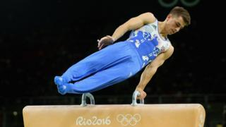 Max Whitlock in the pommel horse final