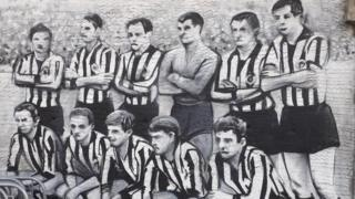 Mural na stadionu Partizana posvećen generaciji iz 1966.