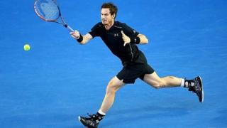 Andy Murray in action in the 2016 Australian Open