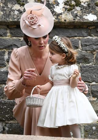 Герцогиня Кембриджская и принцесса Шарлотта