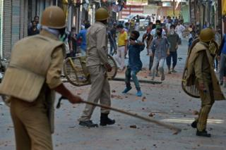 Around 60 people have been killed and more than 5,000 injured in Indian-administered in recent weeks as protesters clashed with security forces