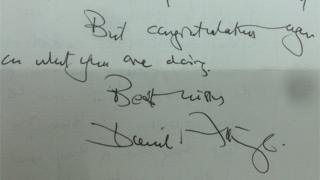 Sir David Attenborough wrote a letter to the children
