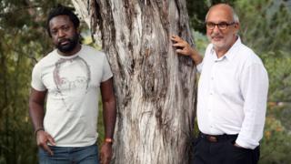 Marlon James and Alan Yentob