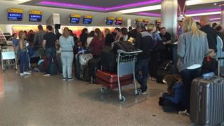 Delta Havayolu yolcuları