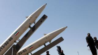 Iranian missiles displayed in Tehran