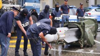 پلیس می گوید موشک کشف شده ساخت فرانسه است و در ارتش قطر کاربرد دارد