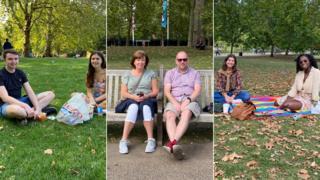 La BBC s'est entretenue samedi avec des gens de St James's Park, dans le centre de Londres