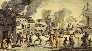 Slave rebellion on the night of 21 August 1791.