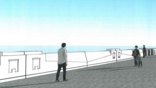 Proposed Douglas sea wall
