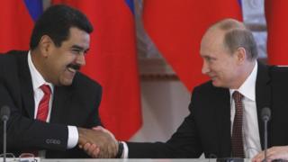Maduro y Putin durante un encuentro en Moscú en julio de 2013.