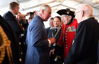 Prince Charles with veterans
