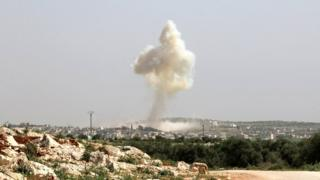 Imirwano mu muji wa Idlib