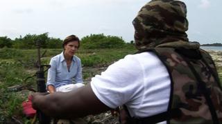 Sue Lloyd-Roberts in the Niger Delta