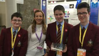 Some of the year 10 pupils from St Patrick's High School who took part in the competition in Dublin