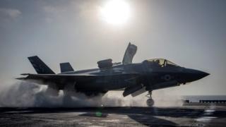 اف ۳۴ب نخستین عملیات جنگی واقعی خود را روز گذشته در افغانستان و علیه طالبان انجام داد