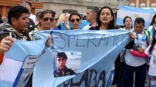 Protesta de los familiares de la tripulación del ARA San Juan