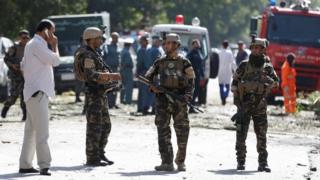 Security forces in Kabul