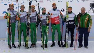 Irish Cross-County Skiing team