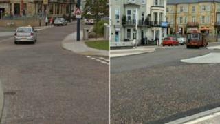 Yarmouth seafront before and after