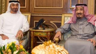 Eze n'achị Saudi Arabia S Salman bin Abdulaziz Al Saud na nwa-eze Sheikh Mohammed bin Zayed al-Nahyan