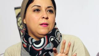 Esraa Abdel Fattah, co-founder of Egypt's April 6 Youth Movement, in Cairo (24 January 2016)