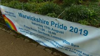 Warwickshire Pride banner