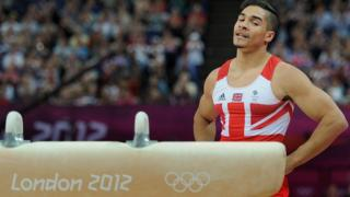 Louis Smith during the men's pommelhorse final at the London 2012 Olympic games