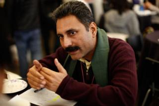 Director Mahmood Farooqui at the 2010 Sundance Film Festival in Park City, Utah