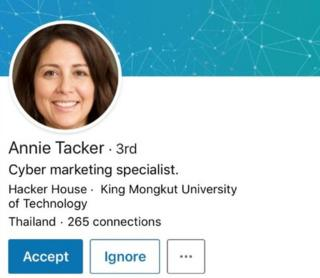 Annie Tacker's LinkedIn profile