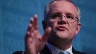 Treasurer Scott Morrison delivers his post-budget address on Wednesday