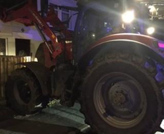 Tractor in Wisbech