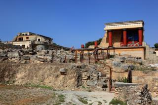 克里特岛的克诺索斯宫遗址