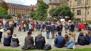 Protestation de Sheffield