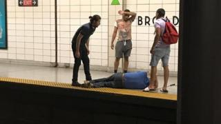 Rescue at Toronto subway station